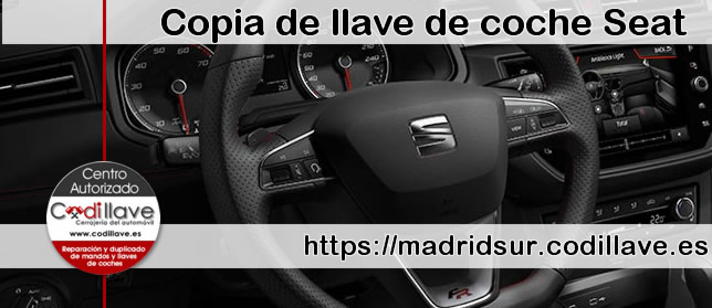 Copias de llaves de Seat en Madrid Sur